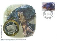 WWF Møntbrev - Senegal-klapblødskildpadde