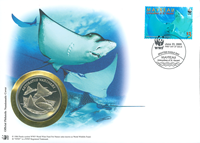 WWF Numiscover - Spotted eagle ray