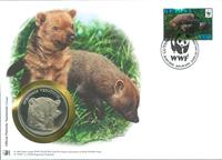 Sobre filat. numismát. WWF - Perro venadero