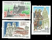 France - Non-dentelé YT 2825-2827 - Non-dentelé
