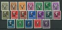 Norge 1941 V-mærker postfrisk
