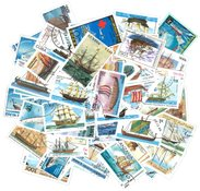 Ships - 100 different stamps