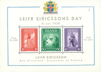 Islande bloc neuf Leif Eriksson