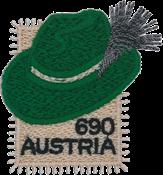 奥地利新邮, 异质票针织帽邮票 - 新票小全张