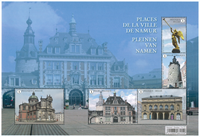 Belgique - Places et bâtiments à Namur - Bloc-feuillet neuf