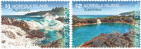 Îles Norfolk - Piscine naturelle - Série neuve 2v
