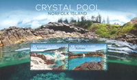 Norfolk Island - Crystal Pool - Postfrisk miniark