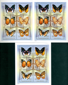 3 x Centralafrika - YT 1757/62