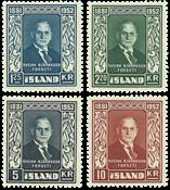 Island AFA nr.282-285 Postfrisk