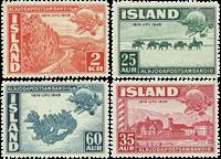 Island AFA nr.260-263 postfrisk