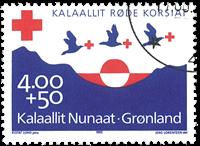 Grønland - 1993. Røde Kors - 4,00+0,50 kr. - Blåviolet / Rød