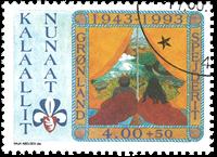 Grønland - Grønlands Spejderkorps 50 år - 4,00+0,50 kr. - Flerfarvet