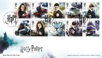 England - Harry Potter - Førstedagskuvert med sæt