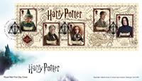 Grande-Bretagne - Harry Potter - Env.premier jour avec bloc-feuillet
