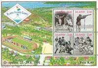 Åland - Jeux des îles - Bloc-feuillet neuf