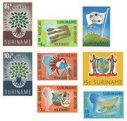 Surinam 1960 - NVPH 336/39 + 345/48 - neuf