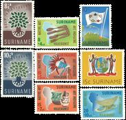 Suriname 1960 - NVPH 336/39 + 345/48 - postfrisk