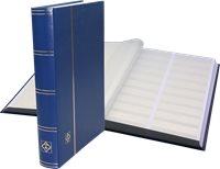 Classeur Leuchtturm BASIC - Bleu - A4 - 64 pages blanches subdivisées - cou