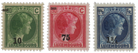 Luxembourg - 1929 - Michel 218/220, neuf