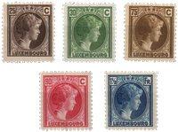 Luxembourg - 1927 - Michel 187/191, neuf
