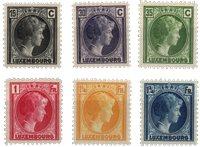 Luxembourg - 1930 - Michel 221/226, neuf