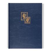 Classeur à bandes TRADITION, A4, 16 pages blanches, couverture non ouatinée, bleu, 2x