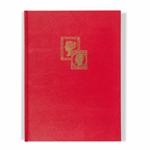Classeur à bandes TRADITION, A4, 16 pages blanches, couverture non ouatinée, rouge, 2x