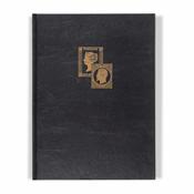 Classeur à bandes TRADITION, A4, 16 pages blanches, couverture non ouatinée, noir, 2x