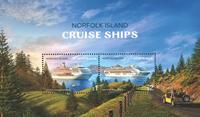 Îles Norfolk - Bateau de croisière - Bloc-feuillet neuf