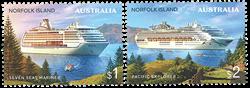 Îles Norfolk -  Bateaux de croisière - Série neuve 2v