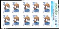 Australien - Alfabetet E - Postfrisk frimærkehæfte E