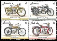 Australien - Motorcykler - Postfrisk sæt 4v