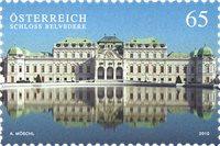Østrig - Belvedere Slot - Postfrisk frimærke