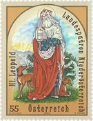 Østrig - Den hellige Leopold - Postfrisk frimærke