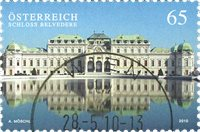 Austria - Belvedere Castle - Cancelled stamp