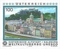 Østrig - Salzburgs gamle bydel - Postfrisk frimærke