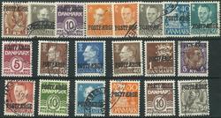 Danmark - 20 Postfærgemærker - stemplet