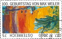 Autriche - Le centenaire de Max Weiler - Timbre oblitéré