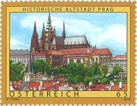 Østrig - Prags gamle bydel - Postfrisk frimærke