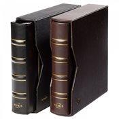 Reliure à anneaux NUMIS, design classique, avec cuir étui de protection, no