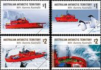 Australsk Antarktis - Isbryderen Aurora Australis - Postfrisk sæt 4v