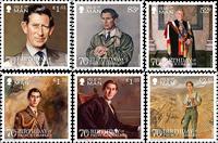 Isle of Man - Prince Charles 70 år - Postfrisk sæt 6v