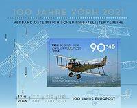 Autriche - Avion poste aérienne - Bloc-feuillet neuf