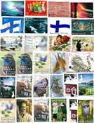 Finland - Kiloware / Stamp mixture - Euro stamps -  100 g