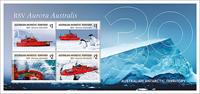 Australsk Antarktis - Isbryderen Aurora Australis - Postfrisk miniark