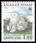 Grønland - 1999 Sneugler - 1,00 kr. - Flerfarvet