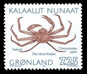 Groenland- Timbres émis en carnet avec inscription  modifiée opilio -7,25 kr