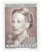 Grønland - Dronning Margrethe II - 1,00 kr. - Brun