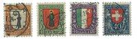 Schweiz 1923 - Michel 185-88 - Stemplet