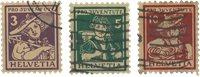 Schweiz 1916 - Michel 130-32 - Stemplet